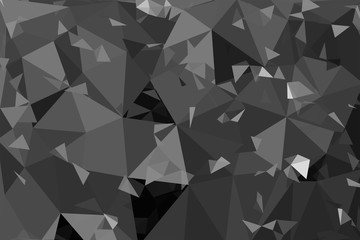 black and white geometric rumpled triangular low poly origami st