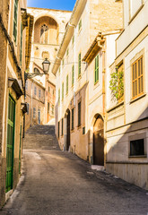 Wall Mural - View of a old town alleyway