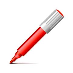 Felt pen isolated on white vector