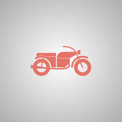 motorcycle icon. Flat design style.