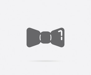 Barber Shop Bow Tie Vector Element or Icon, Illustration Ready for Print or Plotter Cut or Using as Logotype with High Quality