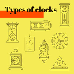 + TYPES of CLOCKS +