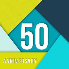 50 year anniversary material design template