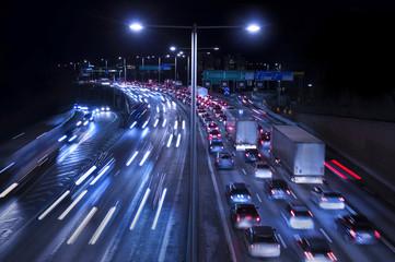 Traffic on Freeway Fotomurales