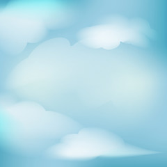 illustration clear blue sky with clouds vector abstract backgrou
