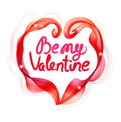 Beautiful Valentine's background with abstract color heart and t