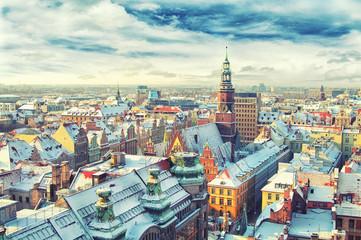 Polska. Widok Wrocławia