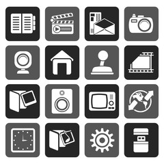 Flat Internet, Computer and mobile phone icons - Vector icon set