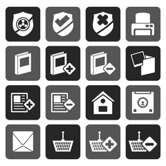 Flat Internet and Website buttons and icons -  Vector icon set