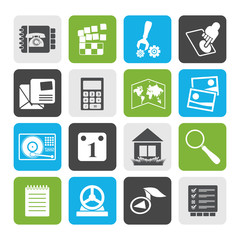 Flat Mobile Phone and Computer icon - Vector Icon Set