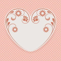 Valentine 's Day heart shape vector card.