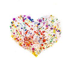 Watercolor heart frame