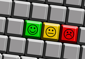 emotions keyboard red buttons