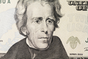 Jackson's portrait on dollar