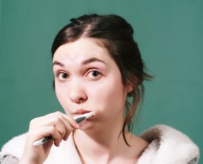 about brushing teeth.