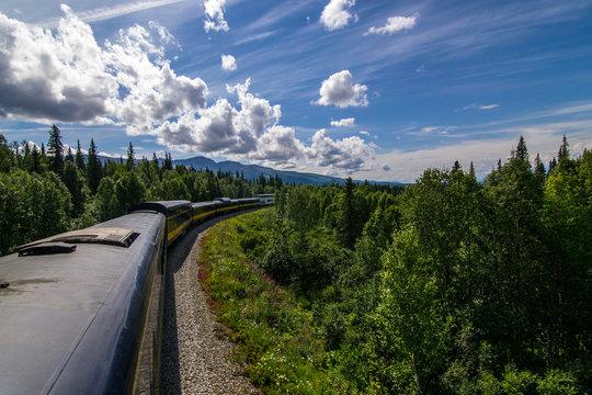Alaskan Train Northbound