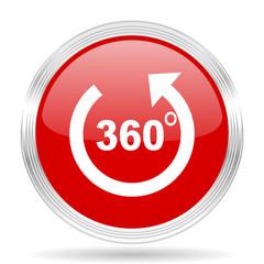 panorama red glossy circle modern web icon