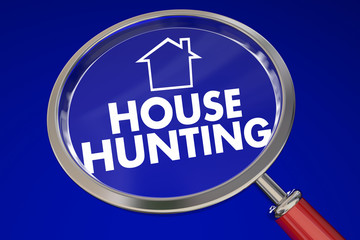 House Hunting Magnifying Glass Find Perfect Home Real Estate Age