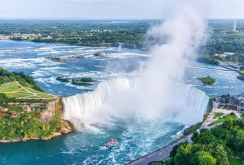 Niagara Falls Aerial View, Canadian Falls