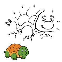 Numbers game for children (turtle)