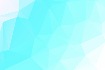Blue and white Polygonal Mosaic background