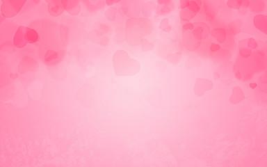 Hintergrund pink mit Herzen