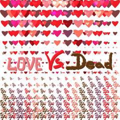 Love vs dead valentines day design vector illustration. Card bac