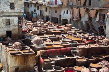 Curtidores de Fes, Marruecos