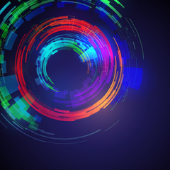 circle and rotation, abstract image, vector illustration