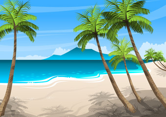 Illustration of beautiful seascape