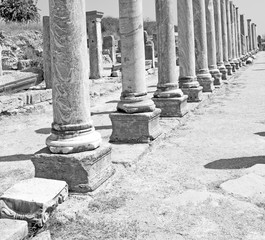 perge old construction in asia turkey the column  and the roman