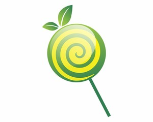 lollipop leaf candy image vector