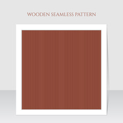 Seamless brown wooden lines texture. Vector illustration.
