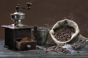 Smoking Coffee Beans