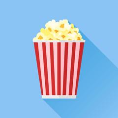 Popcorn flat icon