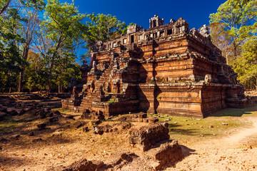 Phimeanakas Temple Angkor Thom, Cambodia. Ancient Khmer architec