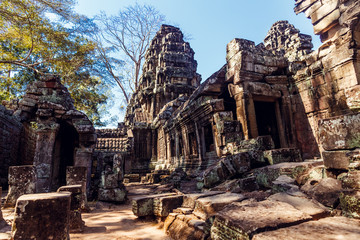 Banteay Kdei Temple  Angkor, Cambodia. Ancient Khmer architectur