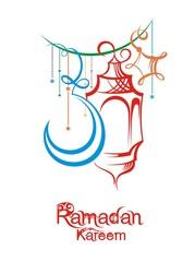 Illustration Ramadan Kareem Background with Fanoos