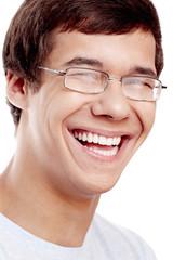Laughing face closeup