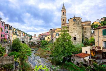 Dolcedo, little italian town in the Maritime Alps mountain in Li