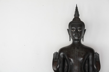 buddha image on cement wall