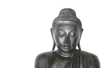 buddha image isolated on white background.