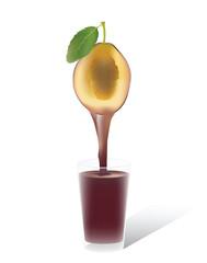 Plum juice for your design