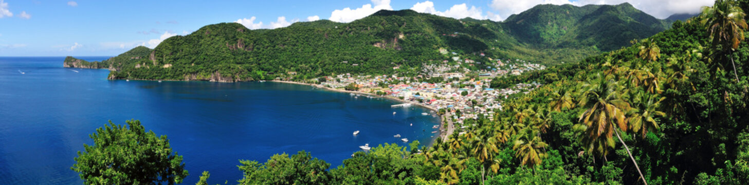 Town of Soufriere by the Bay