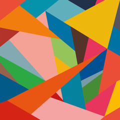Colored triangles, bright composition, abstract vector geometric background
