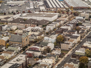 aerial view of town in new jersey