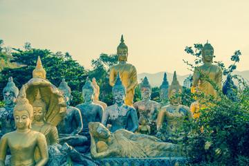 Many Buddha Khao Takiab Temple in Hua Hin Thailand