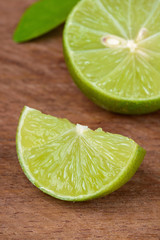 fresh lime rustic wooden table