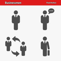 Businessmen Icons. Professional, pixel perfect icons optimized for both large and small resolutions. EPS 8 format.