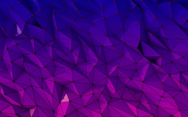 Multicolored low poly background for card, poster or wallpaper.